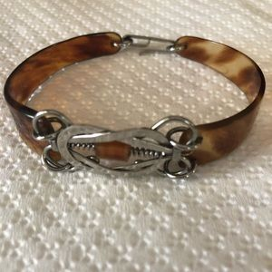 Vintage Tortoise Horn Bracelet